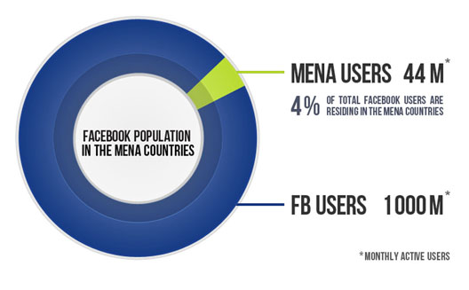 Facebook Use by Companies in the Middle East and North Africa [Infographic]