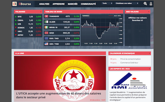 Tunisian stock exchange startup ilBoursa reaching new heights