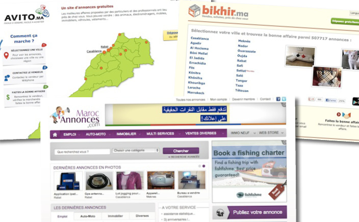 Who's winning the classifieds market in Morocco?