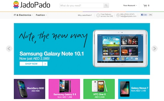 Dubai E-Commerce Site JadoPado Seizes Growing Opportunity
