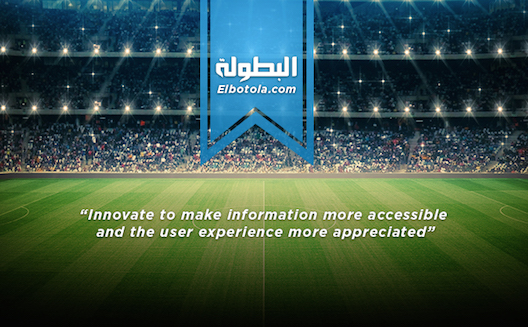 Arabic sport outlet Elbotola raises $400,000 to expand to Middle East