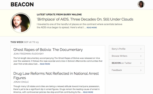 Can new media site Beacon create good revenue streams for longform journalists?