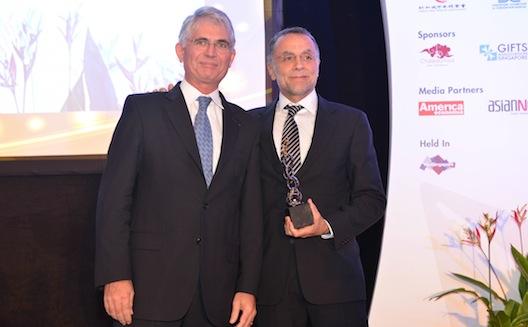 Wamda Chairman Fadi Ghandour receives award at World Entrepreneurship Forum