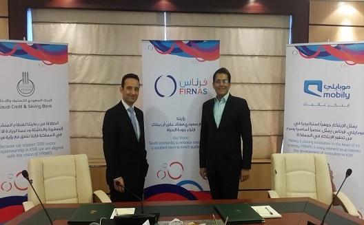 Mobily, Saudi Credit & Savings Bank, and Firnas announce partnership to support Saudi innovation