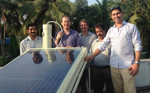 Solar solution for saltwater stress