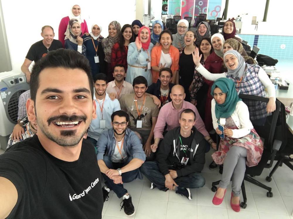 Rebootkamp's first wave of refugee coders in Jordan