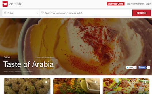 'زوماتو' لتقييم المطاعم تحصل على 60 مليون دولار