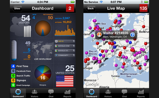 Woopra Responds to Google Analytics with Game-Changing iPhone App