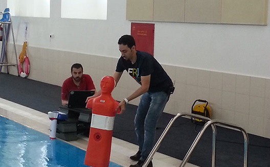 Swimming safely with sensors from the deserts of Arabia
