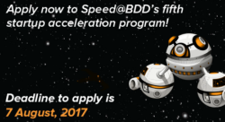 Speed@BDD's 5th acceleration program [Call for applications]