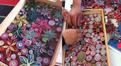 """تحويل الـ""""زوايد"""" إلى تصاميم فنية أردنية"""