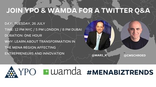 YPO & Wamda live Twitter Chat:  What's Trending Now in MENA? #MENABizTrends