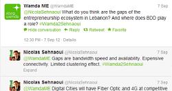 مقابلة وزير الاتصالات اللبناني مع ومضة عبر تويتر