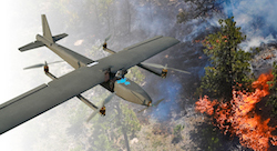 Lebanese drones tackling forest fires, NAR