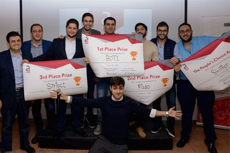 Four winning teams at Jusoor's fourth Entrepreneurship Competition for Syrian startups