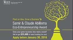 Samir & Claude Abillama Eco-Entrepreneurship Award application