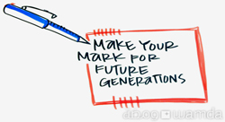 Make your Mark for Future Generations [Pic of the Week]