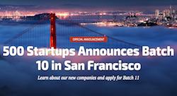 2 Jordanian startups included in 500 Startups' 10th batch