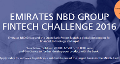 Applications for the Emirates NBD Group Fintech Challenge 2016 are open