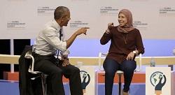 مؤسسة 'إيفنتس' المصرية تلتقي باراك أوباما [فيديو]
