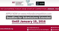 Extended Deadline: 9th MIT Enterprise Forum Arab Startup Competition in Jeddah, KSA