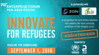 "MIT Enterprise Forum Pan Arab's ""Innovate for Refugees"" Competition"